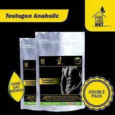 Testogen Anabolic Capsules, Testosteron, Muscle & Libido Booster, 100% Natural.