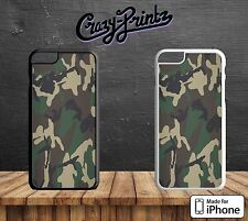 Camouflage Green Brown Cool Hard Case Cover for all iPhone Models K115