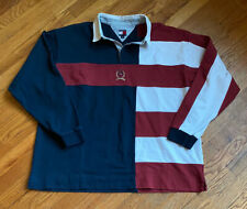 KITH X TOMMY HILFIGER COLOR BLOCK RUGBY NAVY SZ XXL