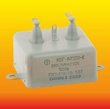 2x0.1 uF 1500 V RUSSIAN PAPER IN OIL PIO AUDIO CAPACITORS KBG-MP2V-K КБГ-МП2В-К
