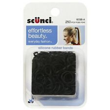 Scunci Silicone Hair Rubber Bands 250 ea