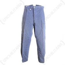 Original Swiss Old Style Work Trousers - Blue Demin Surplus Army Military Jeans
