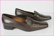 Mocassin Salamander France Brown Leather T 36 Very Good Condition