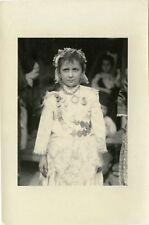 ALGERIAN AFRICA - TEENAGE GIRL PORTRAIT IN ETHNIC DRESS & VINTAGE SNAPSHOT PHOTO
