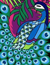 Grafitec Tapiz//Bordado De Lona Impresa Peacock Paradise