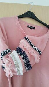 NWOT Cameo Rose pink jumper size L
