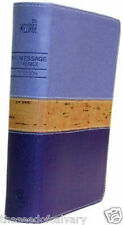 THE MESSAGE BIBLE IN PURPLE CORK BRAND NEW!!! #0236