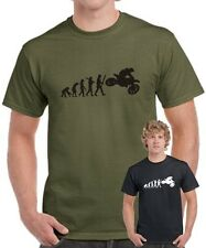 Fun T-Shirt EVOLUTION MOTOCROSS biker Trialer Motorrad Cross trial bike I love