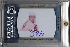SAM GAGNER THE CUP RC PRINTING PLATE 1/1 AUTOGRAPH AUTO