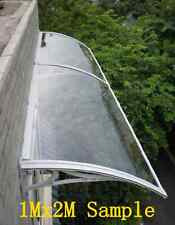 1Mx2.4M DIY Outdoor Window Awning/Patio Cover/ clear/dark colour