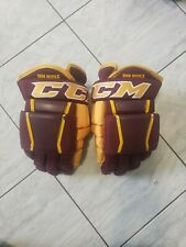 Arizona State pro stock hockey gloves, 14s, Ccm Hg97, Asu