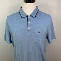 Penguin by Munsingwear / Men's Polo Shirt / Blue / Size XL Heritage Slim Fit