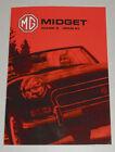 Operating Instructions Manual MG Midget Mark 3/ Mk III, Year of 1966 - 1974