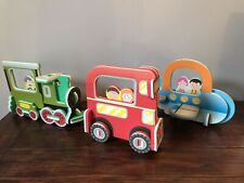 ELC Early Learning Centre 3D Foam Puzzles Train Aeroplane Bus Age 3-8