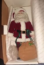 Danbury Mint Santa's Special Delivery Comes With Santa Bag & Toys