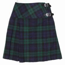 New Ladies Black Watch Tartan Scottish Mini Billie Kilt Mod Skirt Sizes 6 -22UK