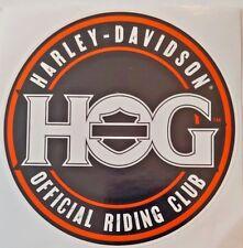 "HARLEY - DAVIDSON  HOG  OFFICIAL RIDING CLUB 4"" DECAL NEW"