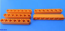 LEGO® technic Nr- 6102621 / 7 Loch orange Lochstangen - Liftarm / 5 Stück