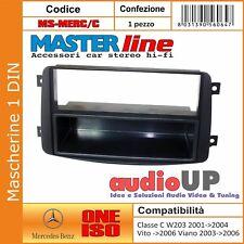 MASCHERINA AUTORADIO 1 DIN MERCEDES VITO FINO AL 2006 ADATTATORE RADIO UN DIN