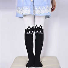 Kids Girls Cartoon Cotton Tights Socks Stockings Pants Hosiery Pantyhose 2-9 Y