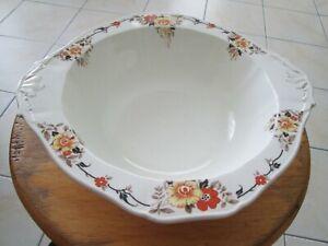 Vintage Bowl 1930's Alfred Meakin -England -Floral - Large 23 cm