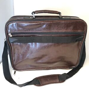 Nylon & Vinyl Laptop Case Briefcase - Zip and Hook & Loop - Excellent - Burgundy
