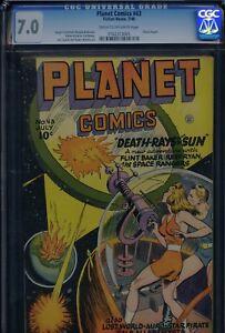 PLANET COMICS #43 - CGC-7.0, CR-OW - Fiction House - 1st Futura
