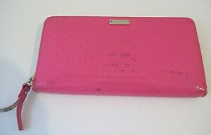 Kate Spade New York Hot Pink Patent Leather Zip Around Wallet
