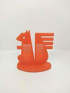 Grande figurine publicitaire écureuil Caisse d'Epargne vintage plastique orange
