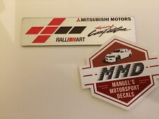 Ralliart Mitsubishi Motors Badge Emblem Sprit Of Competition Aluminium