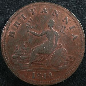 Halfpenny token Canadian Colonial #10 Free shipping Canada and the USA Week #19
