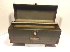Vintage CRAFTSMAN 65013 Rusty Metal Tool Box Made In USA 🇺🇸 Grey Lift Out Tray