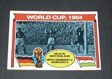 WORLD CUP 1954 GERMANY FOOTBALL CARD 1978 TOPPS ORANGE PANINI