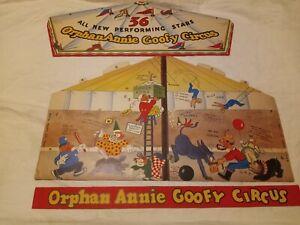 Radios Little Orphan Annie Goofy Circus 36 Performing Stars1930's Ovaltine
