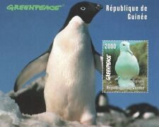 GREENPEACE PENGUIN SEAGULL BIRD ANIMALS GUINEE 1998 MNH STAMP SHEETLET