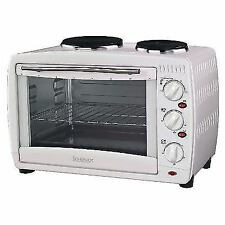 Igenix IG7126 26 Litre Electric Mini Oven with Double Hotplates White (1087494)