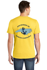Hook N Buoy Anchored in North Carolina Plaid Front and Back Unisex T-Shirt