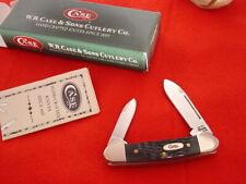 "Case XX USA 62132 SS 2-3/4"" Black Bone 10 dot 2000 Butterbean Canoe Knife MINT"