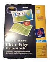 New listing New Avery 28877 Clean Edge Matte White Ink Jet White 120 Blank Business Cards