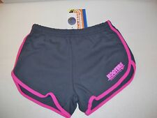 NWT HOOTERS GRAY & PINK WOMENS RUNNING SHORTS SZ SMALL