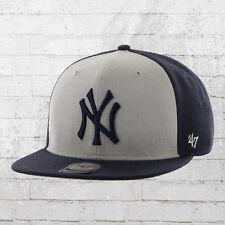 47 Brand MLB Snapback Cap New York Yankees Basecap Cappuccio Blu Grigio  Berretto Cappa bc6507975fab