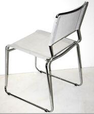 Vintage Estilo Moderno Cromo & Bruno Pollock silla de tela [PL1579]