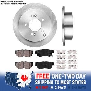 Rear OE Brake Rotors And Ceramic Pads For Hyundai Sonata Tucson Optima Sportage
