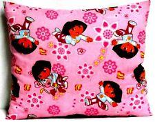 Toddler Pillow Dora The Explorer on Bright Pink 100%Cotton D16 New Handmade