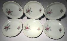 Lot1 De 6 Grandes Assiettes Plates En Haute Porcelaine Du Berry CP D 24 Cm