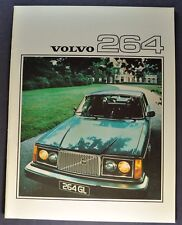 1976 Volvo 264 Catalog Sales Brochure Excellent Original 76