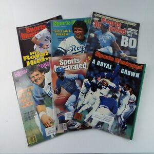 Sports Illustrated Magazine 197080s/90s MLB Baseball Kansas City Royals Lot Of 6