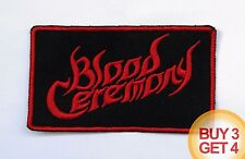 BLOOD CEREMONY R PATCH BUY3GET4,JEX THOTH,ELECTRIC WIZARD,THE DEVIL'S,DOOM METAL