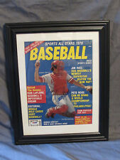 Johnny Bench Autographed Cover of 1979 Baseball Magazine in Mat & Frame PSA/DNA