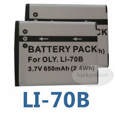 two Li-70B Li70B Battery For Olympus VG-130 VG-140 VG-145 VG-150 VG-160